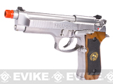 Pre-Order Estimated Arrival: 07/2013 --- WE Custom Samurai Edge Biohazard M9 Limited Edition Airsoft Gas Blowback - Nickel Plated Chrome