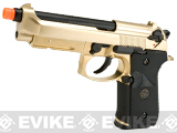 WE-USA NG3 Full Metal M9 Railed Heavy Weight GBB Airsoft Gas Blowback Pistol - Gold