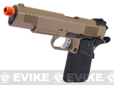 WE Full Metal 1911 MEU Railed Frame Heavy Weight Airsoft Gas Blowback Pistol - Desert