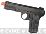 WE-Tech TT33 Full Metal Airsoft GBB Gas Blowback Pistol - Black
