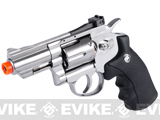 "WinGun Full Metal 2"" Airsoft CO2 Gas Non-Blowback Revolver - (Chrome)"