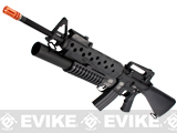 "G&P ""Scar Face"" M16A3 Full Metal M16 VN Airsoft AEG Rifle w/ M203 Grenade Launcher"