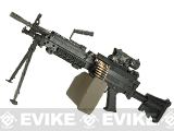 G&P M249 SAW Airsoft AEG Rifle with Collapsible Stock - MK46 Version (Package: Gun Only)