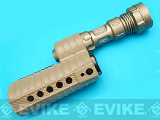 (EPIC DEAL) G&P M500 Special Forces Tac Light Handguard for M4 Series Airsoft AEG - Sand