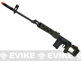 AIM Co2 High Power Gas Blowback AK SVD Airsoft GBB Sniper Rifle - OD Green (580 FPS!)