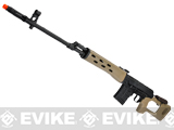 AIM Co2 High Power Gas Blowback AK SVD Airsoft GBB Sniper Rifle - Desert Tan (580 FPS!)