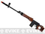 AIM Co2 High Power Gas Blowback AK SVD Airsoft GBB Sniper Rifle - Real Wood