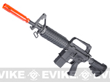 WE Open Bolt Full Metal XM177 Airsoft Gas Blowback GBB Rifle - Black