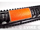 Custom Gun Rails (CGR) Large Laser Engraved Aluminum Rail Cover - Textured Orange Reflective