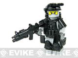 Battle Brick Customs Military Mini-Figure (Model: Grey Heavy Assault Commando)