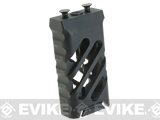 5KU Skeletonized CNC Machined Aluminum KeyMod Vertical Grip (Version: Type B / Short)