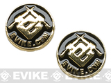 Evike.com Pistol Grip Metal Emblem Logo Set for 1911 2011 Hi-CAPA M9