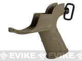 APS Hakkotsu Endurance Grip with Integrated Trigger Guard for M4 Series Airsoft AEG Rifles (Color: Dark Earth)