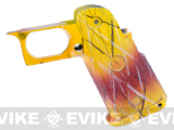 "CQB Master Custom ""Race"" Grip for HICAPA Series Gas Blowback Airsoft Pistols - (Yellow / Red)"
