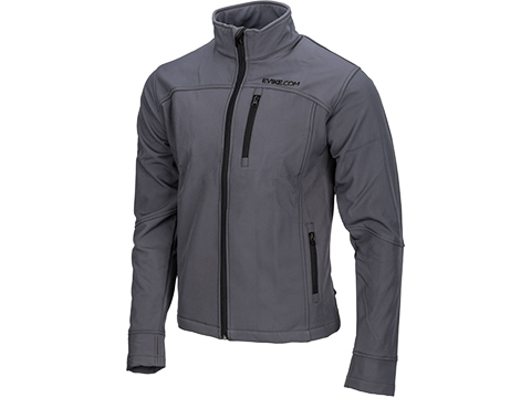 Evike Spectre Water-Resistant Softshell Jacket (Color: Gray / Medium)