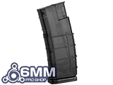 6mmProShop 450 Round Rifle Mag Size Airsoft Universal BB Speed Loader - Smoke