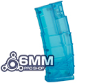 6mmProShop 500 Round Rifle Mag Size Airsoft Universal BB Speed Loader (Color: Blue)