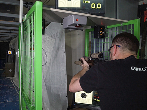 GUNPOWER Shooting Lane w/ Electronic Scoring System and Shooting Cage