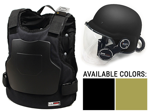 GUNPOWER GPR Tactical Simulation Advanced Vest and Helmet Package w/ Bluetooth Networking