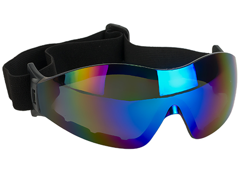 Global Vision Z-33 ANSI Z87.1 Rated Anti-Fog Safety Shooting Goggle (Color: Blue Mirrored Lens)