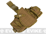 Lancer Tactical Drop Leg Platform w/ Holster and Pouch Set - Tan