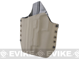 KAOS Concealment Belt / MOLLE Kydex Holster (Model: KWA P226 / Dark Earth / Left Hand)