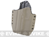 KAOS Concealment Kydex Belt / MOLLE Holster - KWA M9 Tactical PTP (Left / Dark Earth)