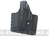 KAOS Concealment Belt / MOLLE Kydex Holster (Model: Glock 26 / Black / Left Hand)