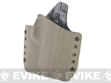 KAOS Concealment Belt / MOLLE Kydex Holster (Model: WE-Tech Big Bird / Dark Earth / Right Hand)