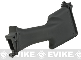 A&K Full Size Polymer Stock for  M249 MK-II AEG Rifles - Black