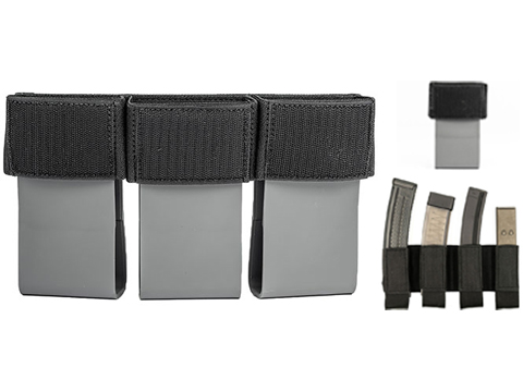 Haley Strategic HSP D3CRM Disruptive Environments Micro Chest Rig Mag Insert (Model: 5.56 Triple with MP2 / Black)