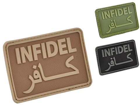 Hazard 4 Infidel Rubber Hook and Loop PVC Morale Patch (Color: Coyote)