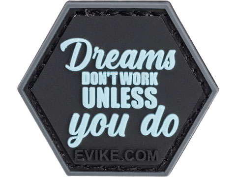 Operator Profile PVC Hex Patch Gym Series (Style: Dreams Don't Work Unless You Do)