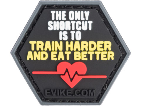 Operator Profile PVC Hex Patch Gym Series (Style: Train Harder Eat Better)