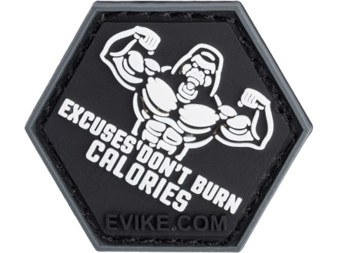 Operator Profile PVC Hex Patch Gym Series (Style: Excuses Don't Burn Calories)