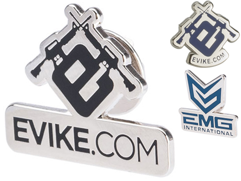 Evike.com Black Tie Stainless Steel Enamel Pin