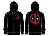 z BioWorld Deadpool Officially Licensed Splatter Zip-up Hooded Sweatshirt (Size: Large)