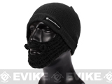 Evike.com Tactical Beard Beanie - Black / Black