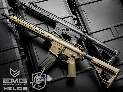 Helios Knight's Armament Licensed SR-16E Mod2 MLOK Airsoft AEG Rifle (Model: Carbine / Tan)