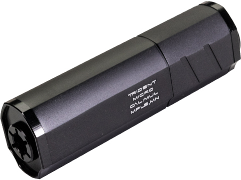 Helix Airsoft Trident Mock Suppressor / Barrel Extension (Color: Black / 14mm Negative / Short)