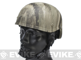 MICH 2001 Fiberglass Airsoft Helmet - Watertransfer / Arid Camo