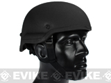 MICH 2002 Fiberglass Replica Kevlar Helmet by Lancer Tactical / Matrix  - Black