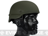MICH 2002 Fiberglass Replica Kevlar Helmet by Lancer Tactical / Matrix  - OD Green