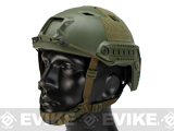 Emerson Bump Type Tactical Airsoft Helmet (BJ Type / Advanced / OD Green / Medium - Large)