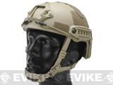 Emerson Bump Type Tactical Airsoft Helmet (MICH Ballistic Type / Advanced / Dark Earth / Medium - Large)