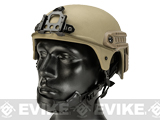 Matrix Professional Grade IBH Airsoft Helmet w/ NVG Mount & Side Rail (Color: Tan)