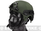 Matrix Professional Grade Airsoft IBH Helmet w/ NVG Mount Base & Rails - OD Green