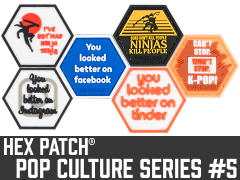 Operator Profile PVC Hex Patch Pop Culture Series 5 (Style: I've Got Mad Ninja Skills)