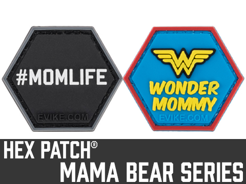 Operator Profile PVC Hex Patch Mama Bear Series (Style: Mom Life)
