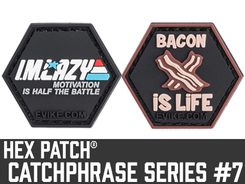 Operator Profile PVC Hex Patch Catchphrase Series 7 (Style: Bacon Is Life)